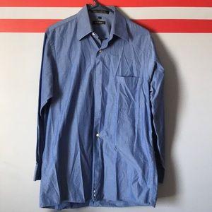 DKNY Mens Blue Dress Shirt. 15 32/33